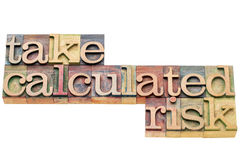 Take calculated risk banner Royalty Free Stock Photography