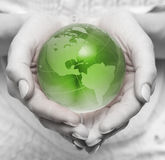 Take care about green planet Royalty Free Stock Image