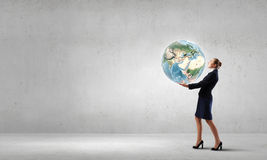Take care of our planet Stock Photography