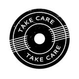 Take Care rubber stamp Royalty Free Stock Photos