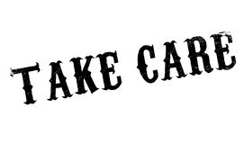 Take Care rubber stamp Royalty Free Stock Photography