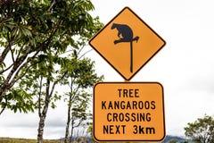 Take care of the Tree Kangaroos sign Royalty Free Stock Photos
