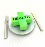 Take care what you eat advetsisement render Stock Photo