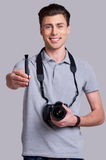 Take care of your lens! Stock Images