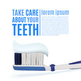 Take care about your teeth. Dental background Stock Photography