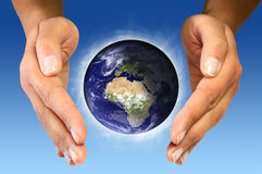 Take care your world Royalty Free Stock Photo