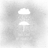 Take care of yourself text on gray spray paint Stock Image