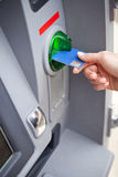 Take cash from the ATM Royalty Free Stock Images