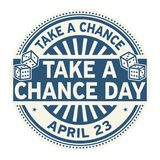 Take a Chance Day stamp Royalty Free Stock Images