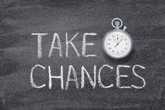 Take chances watch royalty free stock images