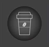 Take a Coffee sign icon. with coffee beans logo Royalty Free Stock Photography