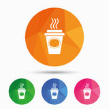 Take a Coffee sign icon. Hot Coffee cup. Stock Photography
