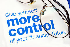 Take control of your financial future Stock Image