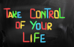Take Control Of Your Life Concept Royalty Free Stock Images