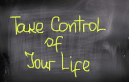 Take Control Of Your Life Concept Stock Photography
