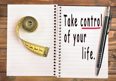 Take control of your life Royalty Free Stock Photo