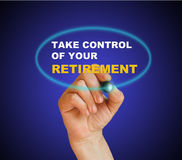 Take control of your retirement. Writing  words  take control of your retirement on gradient background made in 2d software Royalty Free Stock Images