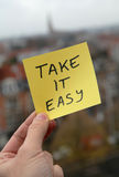 Take it easy. Taking a break from it all and taking it easy royalty free stock photos