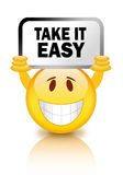 Take it easy. Smiley illustration Stock Images