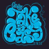 Take it easy. Graffiti vector lettering phrase for t-shirts and other.  Royalty Free Stock Image