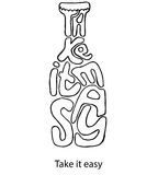 Take it easy. Inspiration illustration. Motivation and inspiration vector illustration with lettering quote. Vintage style typography poster Royalty Free Stock Photos