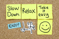 Take it Easy Relax Enjoy Life Royalty Free Stock Photography