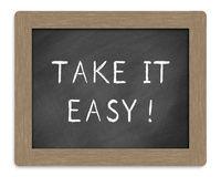 Take it easy sign Stock Photos