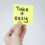 Take it Easy Royalty Free Stock Photography