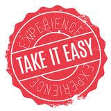 Take It Easy stamp. Grunge design with dust scratches. Effects can be easily removed for a clean, crisp look. Color is easily changed Royalty Free Stock Image