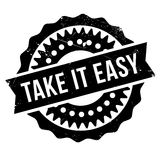 Take It Easy stamp. Grunge design with dust scratches. Effects can be easily removed for a clean, crisp look. Color is easily changed Royalty Free Stock Photography