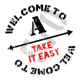 Take It Easy stamp Stock Images