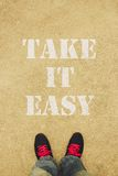 Take it easy Stock Image