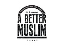 Take everyday as a chance to become a better muslim. Quote icon vector vector illustration