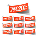 Take an Extra Sale coupons Royalty Free Stock Image