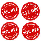 Take An Extra. Set of red stamps with text Take An Extra,vector illustration stock illustration