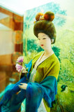 Take the flower woman silk figurines xian Royalty Free Stock Photos