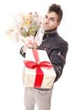 Take a gift! Royalty Free Stock Photos