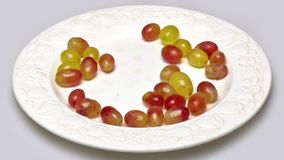 Take grapes again and again stock video footage