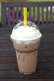 Take-home cup of ice coffee . Stock Photography