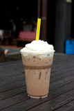 Take-home cup of ice coffee . Royalty Free Stock Photography