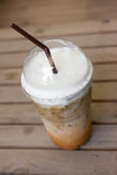 Take-home cup of ice coffee. Stock Photography