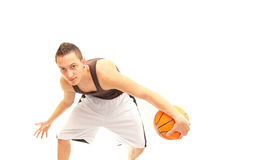 Take it, if you can. A basketball player doing what he does best Royalty Free Stock Images
