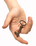 Take the key. Giving you key to your old home stock images
