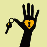 Take the key for my heart Royalty Free Stock Image