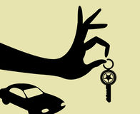 Take the keys for car. Hand holding keys for car Royalty Free Stock Photo