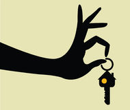 Take the keys for home Royalty Free Stock Photo