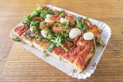 Take-$l*away τρόφιμα πιτσών και οδών Στοκ Εικόνα