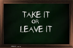 Take it or leave it Stock Photo