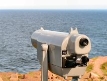 Take a look 2. A pay telescope at cape spear newfoundland Royalty Free Stock Images