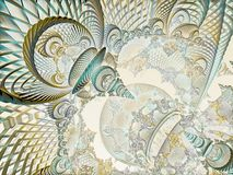 Surreal futuristic digital 3d design art abstract background fractal illustration for meditation and decoration wallpaper stock illustration
